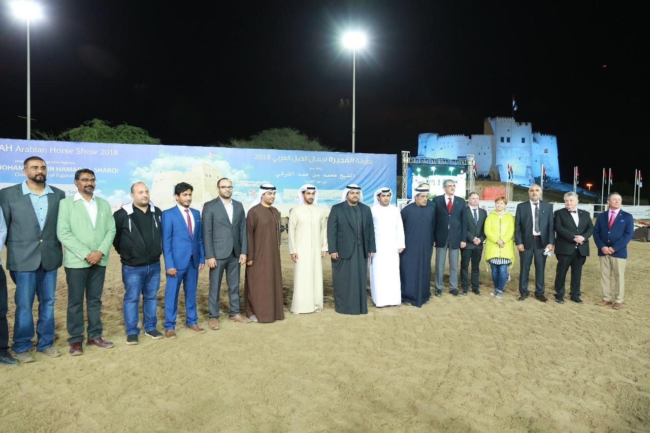 محمد الشرقي يشهد اختتام بطولة الفجيرة الثالثة لجمال الخيل العربي 2017