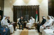 محمد بن زايد يستقبل رئيس