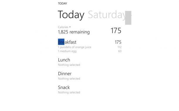 Food Diary .. لتتبُّع معدل السعرات الحرارية