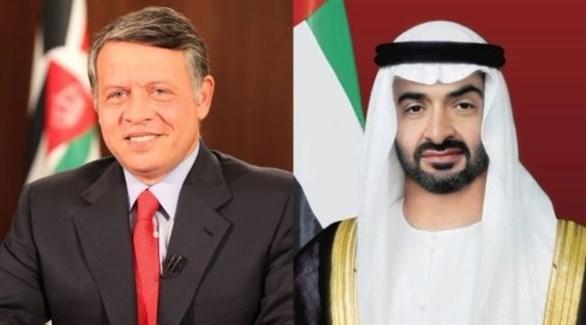 محمد بن زايد وملك الأردن يتبادلان التهاني بالعام الجديد