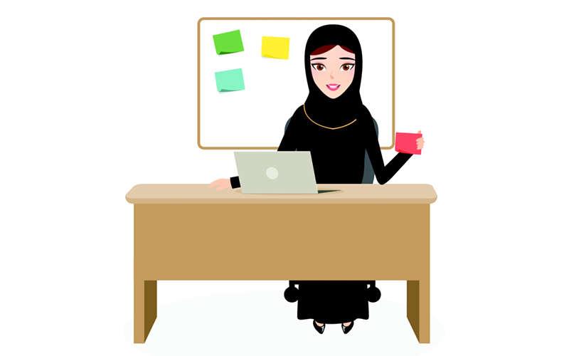المرأة السعودية إلى العمل التجاري بمفردها