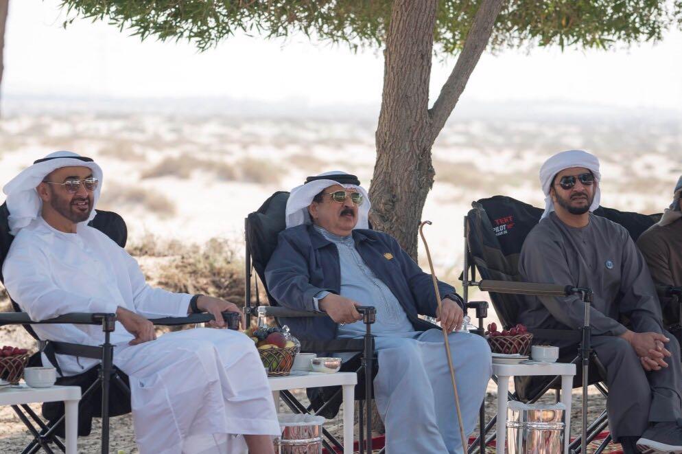 محمد بن زايد يلتقي ملك البحرين