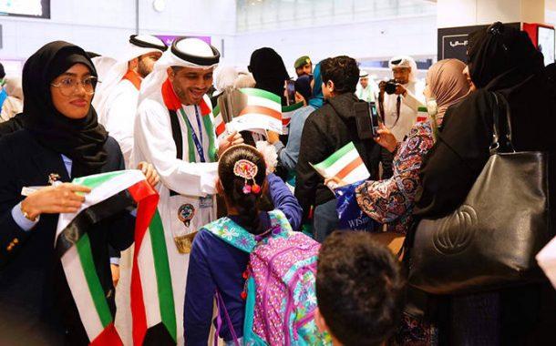 مطارات دبي والشارقة تحتفل باليوم الوطني للكويت