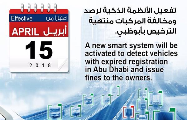 «شرطة أبوظبي» : الإسراع في تجديد المركبات المنتهية قبل 15 الجاري