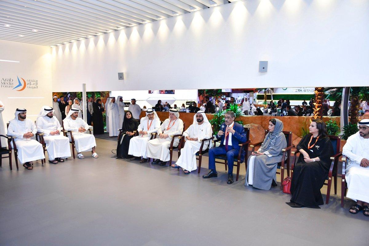 محمد بن راشد يلتقي مجلس إدارة جائزة الصحافة العربية ويثني على جهود أعضائه