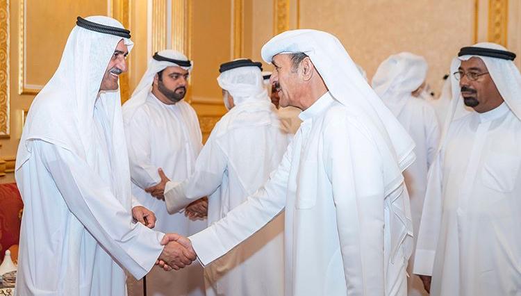 حاكم الفجيرة يستقبل المهنئين بشهر رمضان المبارك