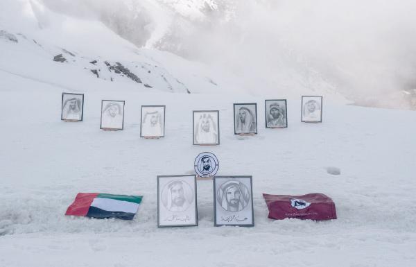 «زايد القمّة».. أعلى معرض لوحات مرسومة في العالم