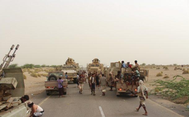 قواتنا تساند ألوية العمالقة في اقتحام مطار الحديدة