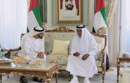 رئيس الدولة يستقبل محمد بن زايد بمقر إقامته في إيفيان