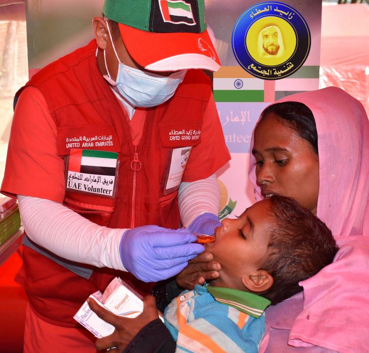 الفريق الإماراتي- الهنديالتطوعي يبدأ مهامه الإنسانية في كيرالا