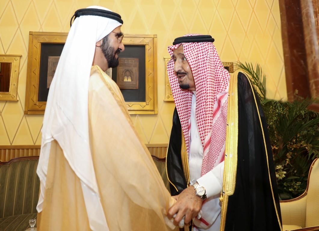 خادم الحرمين الشريفين يستقبل محمد بن راشد