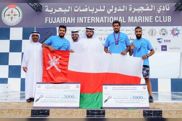 محمد بن حمد الشرقي يكرم الفائزين في بطولة الفجيرة الدولية للغوص الحر