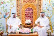 راشد بن حمد الشرقي يستقبل عبدالله الشرقي