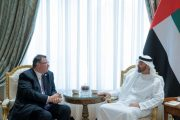 محمد بن زايد يستقبل الرئيس التنفيذي لشركة