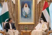 محمد بن زايد يستقبل رئيس وزراء باكستان