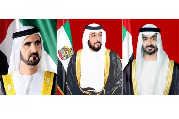 رئيس الدولة ونائبه ومحمد بن زايد يتلقون تهاني رؤساء وملوك العالم باليوم الوطني الـ47