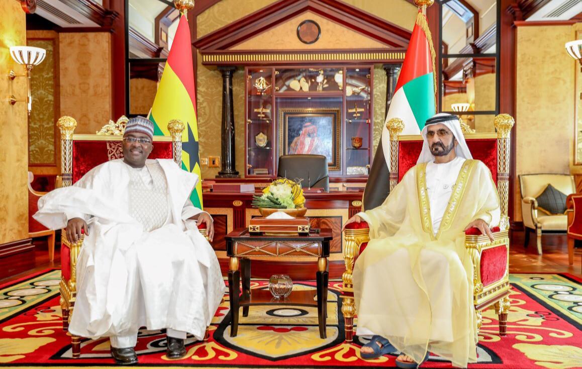 محمد بن راشد يستقبل نائب رئيس غانا
