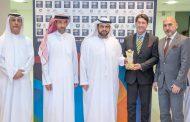 محمد بن حمد الشرقي يحضر مباراة الإمارات والبحرين لكرة الصالات بمجمع زايد الرياضي