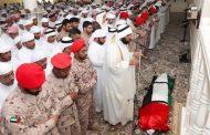تشييع جثمان الشهيد صقر اليماحي بالفجيرة