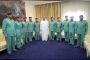 محمد بن حمد يلتقي وفد شرطة الفجيرة بمناسبة الحصول على وسام رئيس مجلس الوزراء