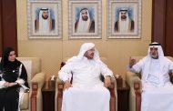نهيان بن مبارك يستقبل وفد مجلس الشورى السعودي