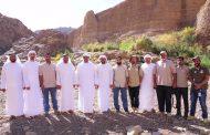 محمد الشرقي يتفقد عددا من مشاريع المناطق السياحية الطبيعية في الفجيرة