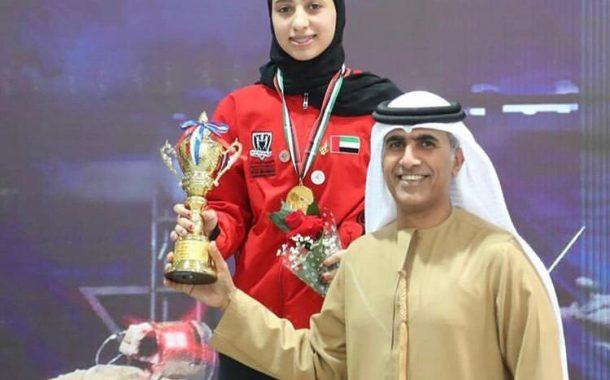 الإماراتية نورة البريكي تحصد 3 ذهبيات في البطولة العربية للأشبال والناشئين للمبارزة بالكويت