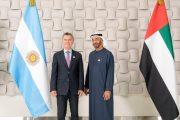 محمد بن زايد يستقبل الرئيس الأرجنتيني