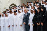 محمد بن زايد يستقبل اللجنة العليا والمنظمين لـ