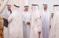 حاكم الفجيرة يقدم واجب العزاء بوفاة حرم أحمد خليفة السويدي