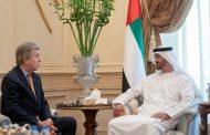 محمد بن زايد يستقبل رئيس وفد المنتخب الأمريكي في الأولمبياد الخاص