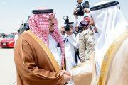 حمدان بن محمد يصل الرياض لحضور حفل مهرجان الملك عبدالعزيز للإبل