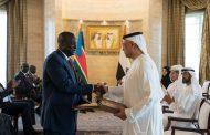 محمد بن زايد ورئيس جنوب السودان يشهدان توقيع اتفاقيات ومذكرات تفاهم بين البلدين