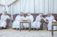 محمد وراشد بن حمد  الشرقي يقدمان واجب العزاء في وفاة والدة عبد الغفور بهروزيان