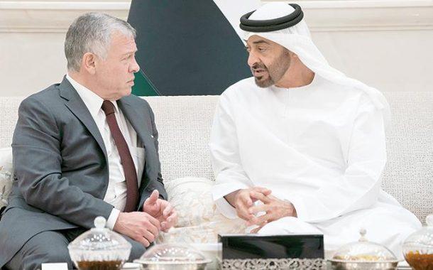 محمد بن زايد وعبدالله الثاني: نواجه التحديات معاً.. وأمننا كان وسيبقى واحداً