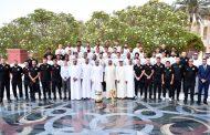 محمد بن راشد يستقبل لاعبي الفريق الأول لكرة القدم بنادي شباب الأهلي دبي والجهازين الإداري و الفني و مجلس الإدارة