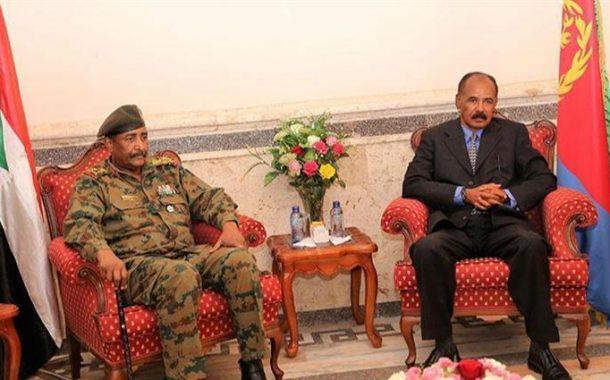 السودان وأريتريا تتفقان على فتح الحدود وتسهيل حركة المواطنين بين البلدين