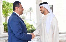 منصور بن زايد يستقبل رئيس الوزراء اليمني