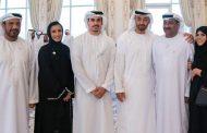 محمد بن زايد يستقبل الطالب الإماراتي الحاصل على شهادة