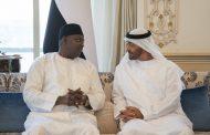محمد بن زايد يستقبل رئيس غامبيا