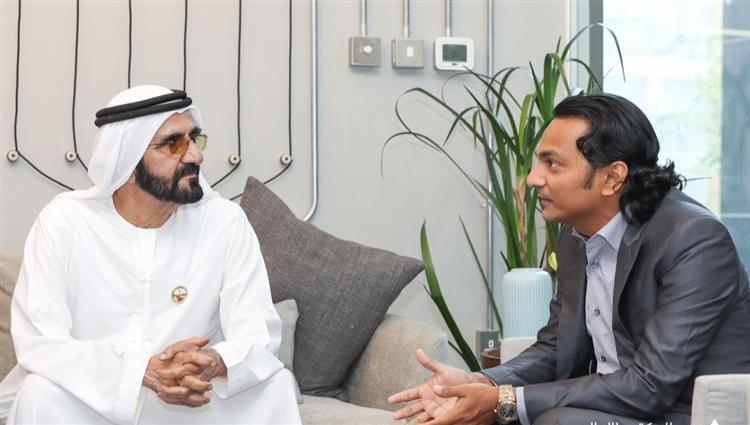 محمد بن راشد يلتقي رائد الأعمال الذي باع شركته بـ 3.3 مليار درهم