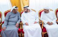 ولي عهد الفجيرة يقدم واجب العزاء في وفاة عبدالله أحمد سعيد الكاعب