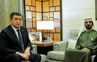 محمد بن راشد يستقبل رئيس قرغيزستان
