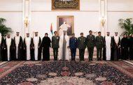 أمام محمد بن زايد.. أعضاء من القضاء والنيابة العسكرية يؤدون اليمين القانونية