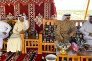 رئيس الدولة بصحبة محمد بن زايد والشيوخ في جولة لغابة محمية «غناظة»