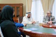 حاكم الشارقة يستقبل وفد اتحاد الكتاب العرب