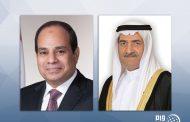 حاكم الفجيرة يعزي الرئيس المصري في وفاة محمد حسني مبارك