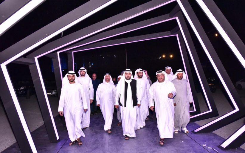 راشد بن حمد الشرقي يطلع  على التحضيرات النهائية  لمهرجان الفجيرة الدولي للفنون
