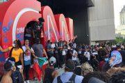 تكسير مبنى محطة أخبار الCNN أثناء إحتجاجات جورج فلويد