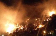 حريق ضخم بجبل مشغرة بلبنان